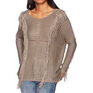 Gorgeous Lira Shaggy Fringe Accented Sweater